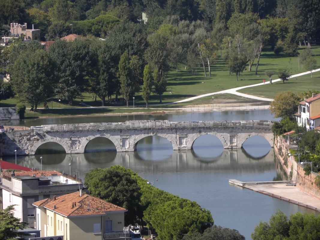 PONTE di TIBERIO vista aerea - Claudio CASADEI - Rimini (RN)