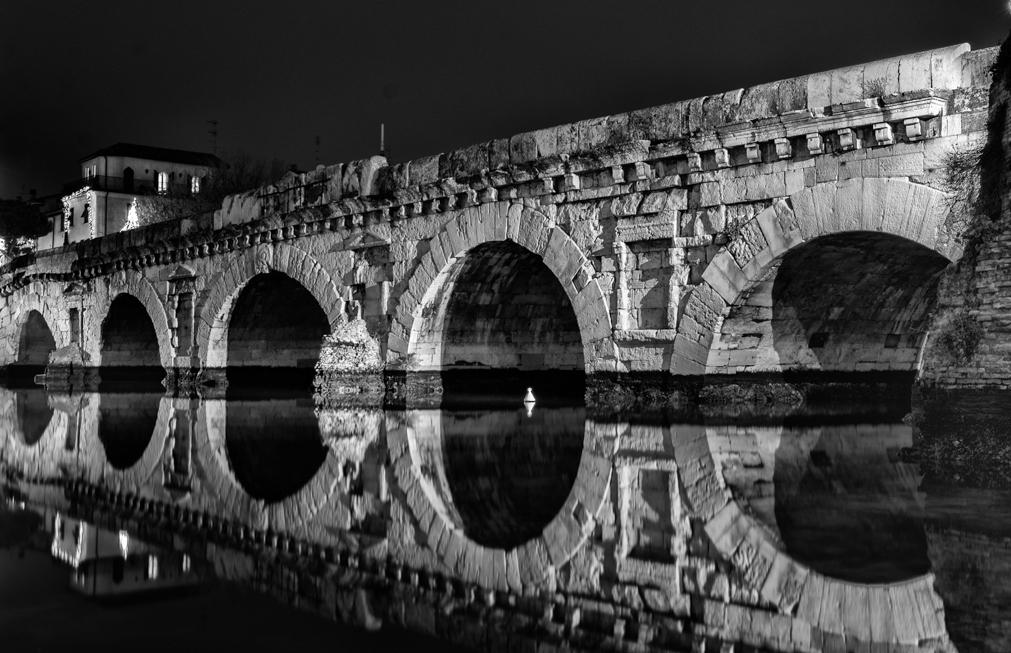 Ponte di Tiberio in Bianco e Nero - Stefano Benaglia - Rimini (RN)