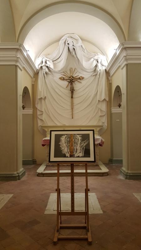 """Cripta. Esposizione temporanea """"RIVOLUZIONE. Un'opera grafica di Mimmo Paladino"""" - Marco Musmeci - Saludecio (RN)"""