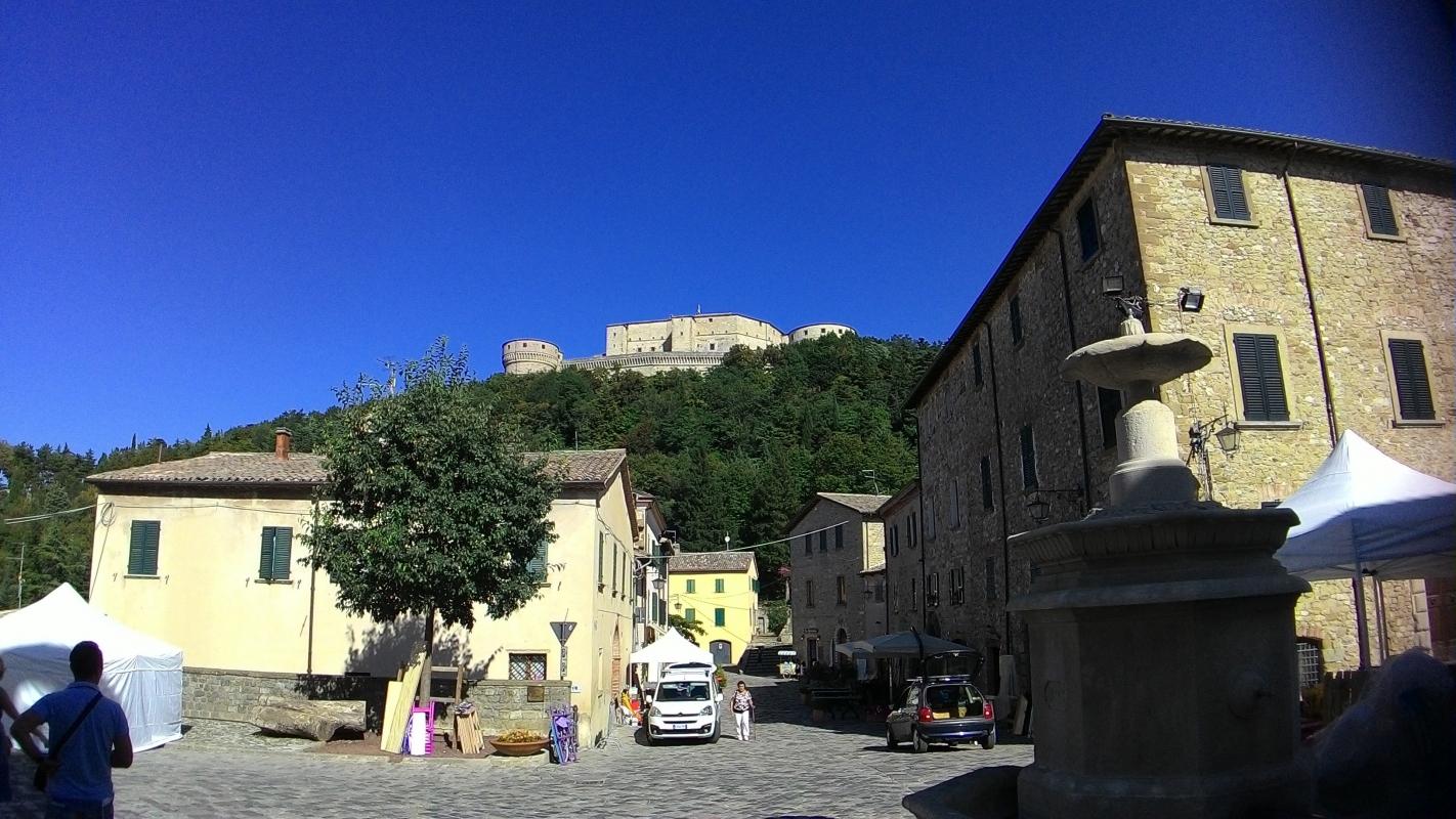 Rocca di San Leo vista dal paese - Fringio - San Leo (RN)