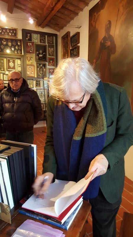 Visita di Vittorio Sgarbi - Marco Musmeci - Saludecio (RN)