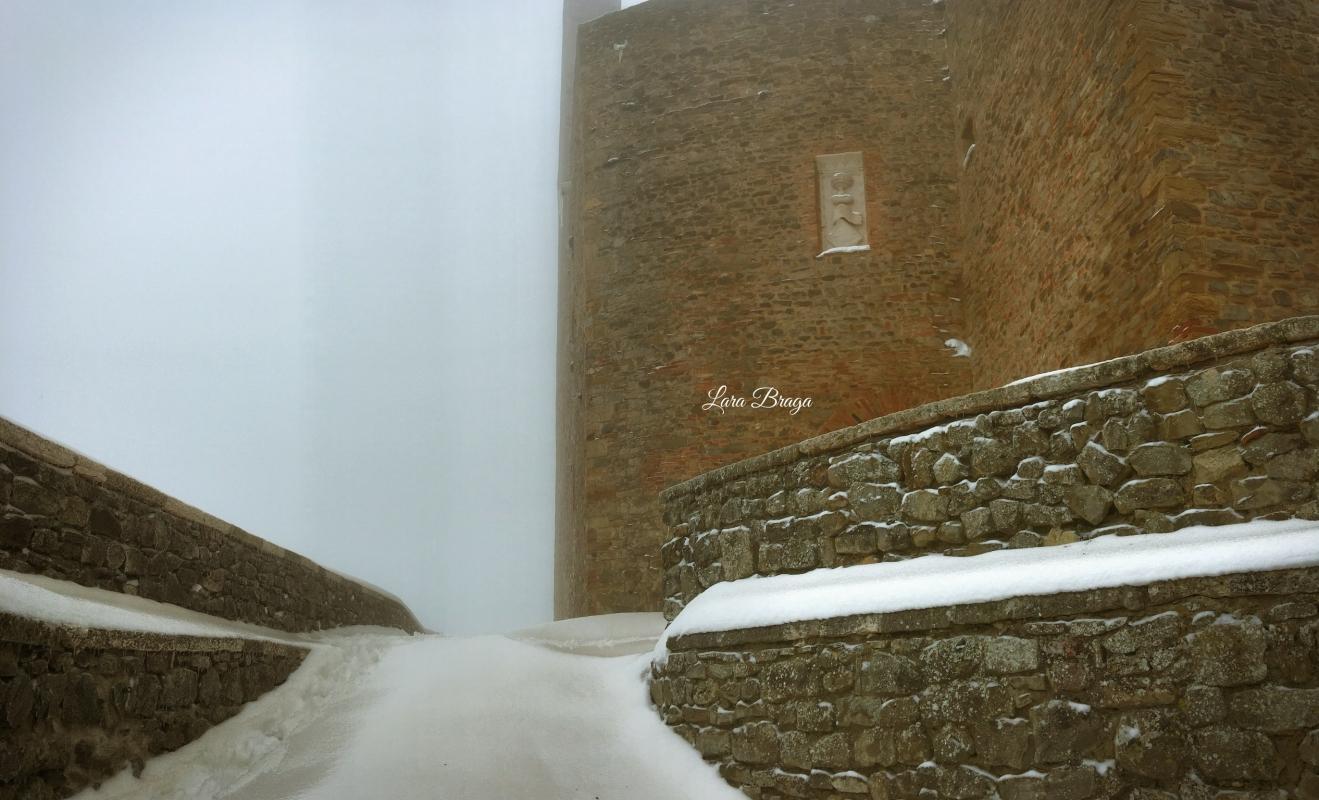 La Rocca e la Galaverna....ghiaccio sulla neve102 - Larabraga19 - Montefiore Conca (RN)