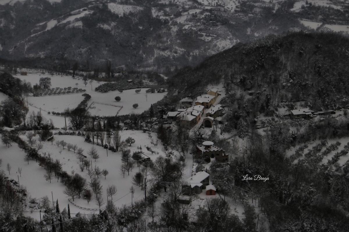La Rocca e la neve4 - Larabraga19 - Montefiore Conca (RN)
