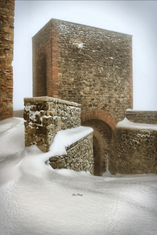 La Rocca e la Galaverna....ghiaccio sulla neve3 - Larabraga19 - Montefiore Conca (RN)
