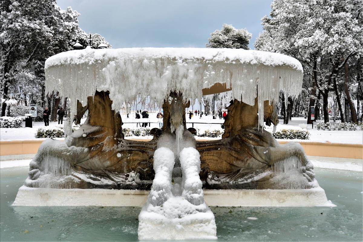 Gelo sulla fontana dei 4 cavalli - GianlucaMoretti - Rimini (RN)
