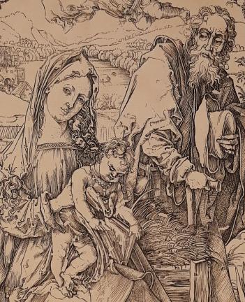 Sacra Famiglia con le tre lepri di Albrecht Dürer 01 - Marco Musmeci - Saludecio (RN)