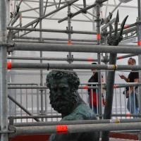 Il Nettuno durante il restauro - Gambero92 - Bologna (BO)