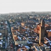 BO - Palazzo Re Enzo e Cattedrale San Pietro visti dalla Torre degli Asinelli - EvelinaRibarova - Bologna (BO)