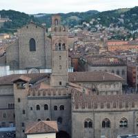 Palazzo Re Enzo con sullo sfondo S. Petronio, dal campanile di S. Pietro - Ste Bo77 - Bologna (BO)