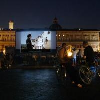 Cinema sotto le stelle in Piazza Maggiore - Fg.biker - Bologna (BO)