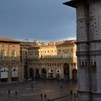 Piazza Maggiore post temporale, con un particolare di San Petronio - Ste Bo77 - Bologna (BO)