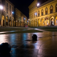 Rain in Piazza S. Stefano at night - Ugeorge - Bologna (BO)