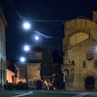 Piazza S. Stefano at night with the full moon - Ugeorge - Bologna (BO)