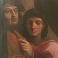 Vocazione di Matteo dettaglio Ludovico Carracci - Waltre manni - Bologna (BO)
