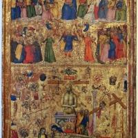 Maestro della misericordia, giudizio universale, vir dolorum e compianto, 1360-65 ca. 01 - Sailko - Bologna (BO)