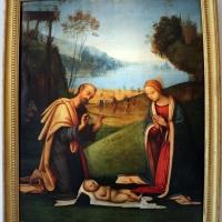 Lorenzo costa, adorazione del bambino con arrivo dei magi, 1503-06, da ss. gervasio e protasio, 01 - Sailko - Bologna (BO)