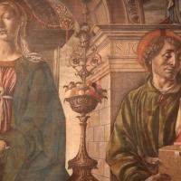 Francesco del cossa, pala dei mercanti, col committente alberto de' cattanei, 1474, 07 - Sailko - Bologna (BO)