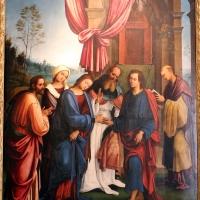 Lorenzo costa, sposalizio della vergine tra i ss. gioacchino, anna e un frate francescano, 1505, dall'annunziata 02 - Sailko - Bologna (BO)