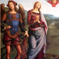 Perugino, madonna in gloria e santi, da s. giovanni in monte, 1500 ca. 03 - Sailko - Bologna (BO)