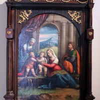 Garofalo, sacra famiglia coi ss. giavanni ed elisabetta, 1515-18, coll. zambeccari - Sailko - Bologna (BO)