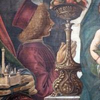 Francesco del cossa, pala dei mercanti, col committente alberto de' cattanei, 1474, 04 - Sailko - Bologna (BO)