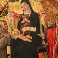 L'alunno, madonna in trono e santi con annunciazione, 03 - Sailko - Bologna (BO)