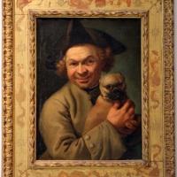 Stefano gherardini (attr.), uomo con cane in braccio, 1740-50 ca - Sailko - Bologna (BO)