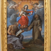 Francesco albani, madona in gloria tra i ss. girolamo e francesco, 1640 ca., coll. zambeccari - Sailko - Bologna (BO)