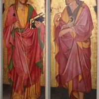 Pittore bolognese, ss. g. battista e jacopo, 1450 ca., da s. giacomo - Sailko - Bologna (BO)