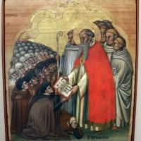Simone dei crocifissi, s. bernardo consegna la regola ai conversi cistercensi, 1370 ca - Sailko - Bologna (BO)