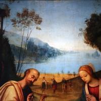 Lorenzo costa, adorazione del bambino con arrivo dei magi, 1503-06, da ss. gervasio e protasio, 02 - Sailko - Bologna (BO)