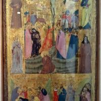 Giovanni baronzio, crocifissione, sepoltura e discesa al limbo con santi, 1330 ca. 01 - Sailko - Bologna (BO)