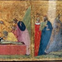 Giovanni baronzio, crocifissione, sepoltura e discesa al limbo con santi, 1330 ca. 02 - Sailko - Bologna (BO)