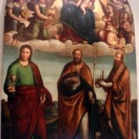 Nicolò pisano, madonna in gloria adorata da tre santi, 1534, 01 - Sailko - Bologna (BO)