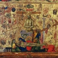 Maestro della misericordia, giudizio universale, vir dolorum e compianto, 1360-65 ca. 03 - Sailko - Bologna (BO)