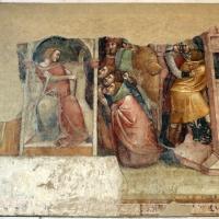 Anonimo bolognese, storie di giuseppe ebreo, 1330-75 ca., 08 i fratelli di giuseppe scacciati dal faraone - Sailko - Bologna (BO)