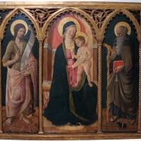 Cristoforo di benedetto, madonna col bambino tra i ss. antonio abate e g. battista, 1460 ca., coll. zambeccari - Sailko - Bologna (BO)