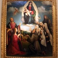 Giacomo francia, madonna in gloria, quattro santi e sei monache, 1515 ca - Sailko - Bologna (BO)