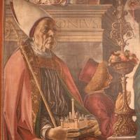 Francesco del cossa, pala dei mercanti, col committente alberto de' cattanei, 1474, 02 - Sailko - Bologna (BO)