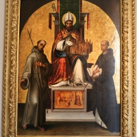 Lorenzo costa, san petronio tra i ss. francesco e domenico, 1502, 02 - Sailko - Bologna (BO)