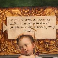Francesco francia, madonna in trono e santi, 1495 ca. 04 dedica, dall'annunziata - Sailko - Bologna (BO)