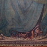 Francesco del cossa, pala dei mercanti, col committente alberto de' cattanei, 1474, 06 firma - Sailko - Bologna (BO)