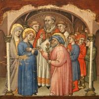 Simone dei crocifissi, sette episodi della vita di maria1396-98 ca, da polittico cospi in s. petronio 04 - Sailko - Bologna (BO)