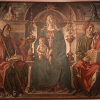 Francesco del cossa, pala dei mercanti, col committente alberto de' cattanei, 1474, 01 - Sailko - Bologna (BO)