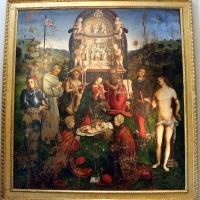 Amico aspertini, madonna in trono, santi e due devoti, 1504-05, dai ss. girolamo ed eustachio, 01 - Sailko - Bologna (BO)