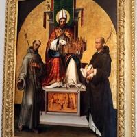 Lorenzo costa, san petronio tra i ss. francesco e domenico, 1502, 01 - Sailko - Bologna (BO)