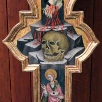 Giovanni martorelli (attr.), croce sagomata con i dolenti e s. cristina, 1450 ca., da cappella di palazzo caprara 02 - Sailko - Bologna (BO)