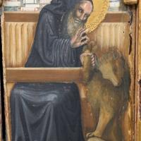 Pseudo jacopino, polittico da s. m. nuova, 1330-35 ca. 11 girolamo e il leone - Sailko - Bologna (BO)