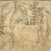 Anonimo bolognese, storie di giuseppe ebreo, 1330-75 ca., giuseppe calato nel pozzo, sinopia - Sailko - Bologna (BO)