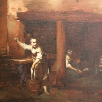 Giuseppe maria crespi, scena di fattoria, 1710-15 ca., 02 lavandaia - Sailko - Bologna (BO)